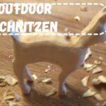 Outdoor schnitzen für Kinder: 🦌Ein Reh🦌