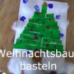 Outdoor Kinder basteln zuhause einen Weihnachtsbaum 🎄