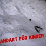 Landart für Kinder im Winter: Der weiße Hai!