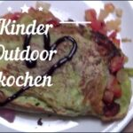 Outdoor kochen mit Kindern: Pfannkuchen Caprese grüner geht´s kaum