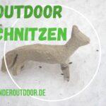Outdoor schnitzen für Kinder: Ein Polarfuchs