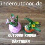 Outdoor Kinder gärtnern zuhause: Blumen in Wachs🌺
