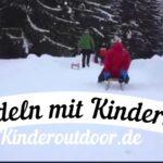Rodelbahn für Kinder: Drei mal Schlitten!
