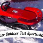 Kinder Outdoor Test: Sport Schlitten