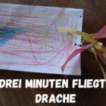 Kinder basteln einen Drachen in drei Minuten