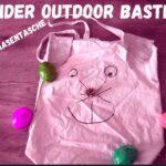 Outdoor Kinder basteln eine Osterhasen Tasche