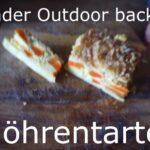 Kinder Outdoor backen: Möhren Tarte