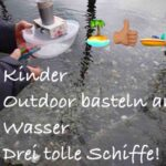 Kinder Outdoor basteln am Wasser