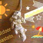 Outdoor basteln mit Kindern: Muschelanhänger