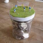 Outdoor Kinder basteln ein Geschenkglas