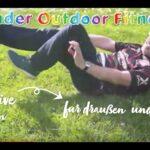 Kinder Outdoor Fitness Übungen