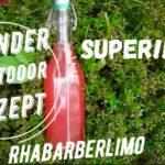 Kinder Outdoor Rezepte: Rhabarber Limo