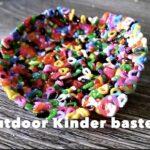 Outdoor Kinder basteln mit Bügelperlen
