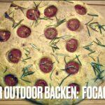 Kinder Outdoor backen: Focaccio